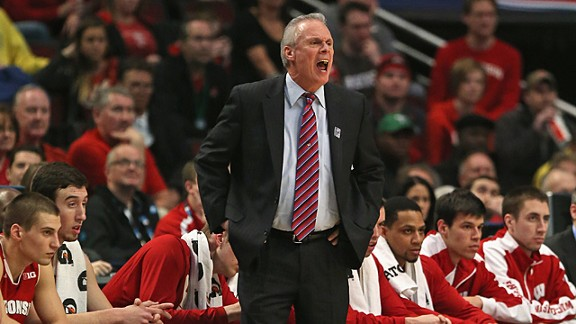 Head coach Bo Ryan of the Wisconsin Badgers