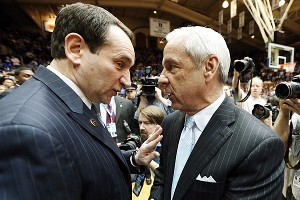 Mike Krzyzewski and Roy Williams