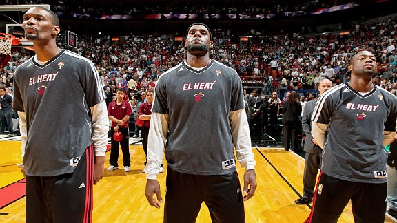 LeBron James, Chris Bosh, Dwyane Wade, Miami Heat
