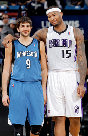 DeMarcus Cousins and Ricky Rubio