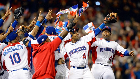 Dominican Republic winning the World Baseball Classic