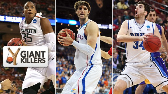 Kenny Kadji/Jeff Withey/Ryan Kelly