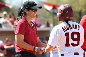 Alabama associate head coach Alyson Habetz was described by one player as the person who holds the team together.