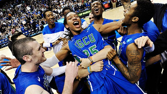 Florida Gulf Coast Eagles and Sherwood Brown after reaching the Sweet 16