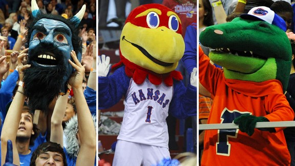 Duke Blue Devils, Kansas Jayhawks and Florida Gators