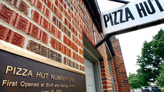 The original Pizza Hut restaurant at Wichita State University