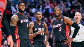 LeBron James, Mario Chalmers, Dwyane Wade