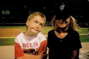 Garrett with his sister Hannah.