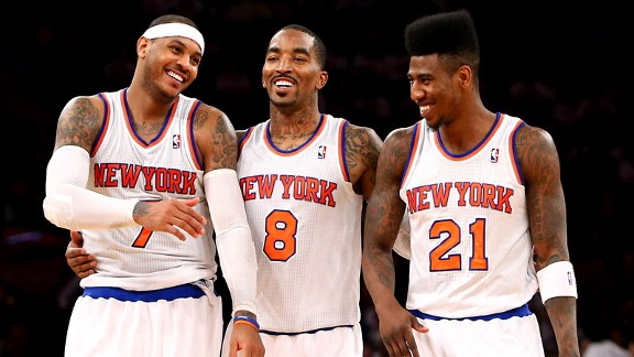 Carmelo Anthony, J.R. Smith, Iman Shumpert