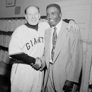 Jackie Robinson and Leo Durocher