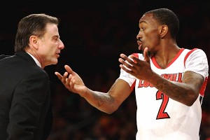Russ Smith and Rick Pitino