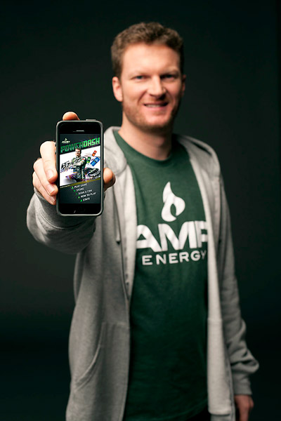Courtesy AMP ENERGY Dale Earnhardt Jr. is ready to unveil his new game