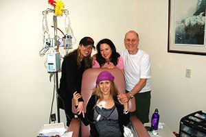 The Angels -- along with Heidi's father -- always tried to make Heidi laugh during her chemo treatments.