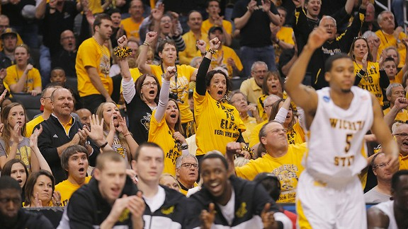 Wichita State Shockers fans at the NCAA tournament