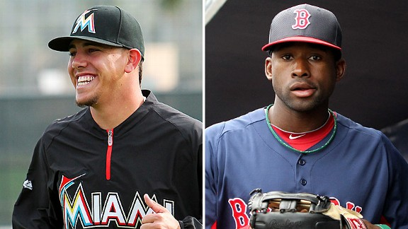 Jose Fernandez and Jackie Bradley Jr.