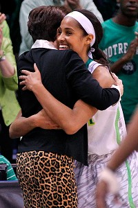 Muffet McGraw and Skylar Diggins