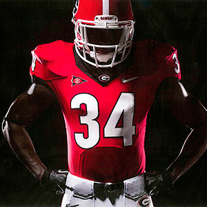 Georgia football uniform