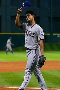 Yu Darvish casi perfecto Texas