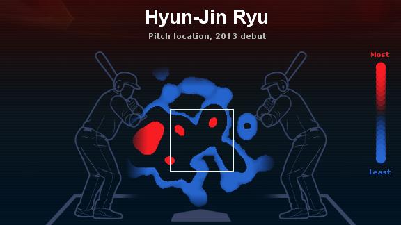 Hyun-Jin Ryu Heat Map