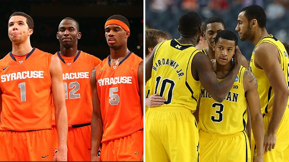 Syracuse Orange and Michigan Wolverines