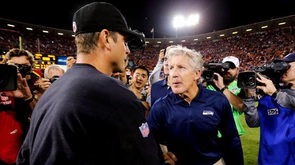 Pete Carroll, Jim Harbaugh 