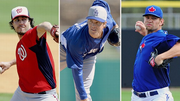 Dan Haren, Zack Greinke, and Josh Johnson
