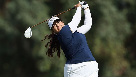 Lizette Salas stands just one shot behind the leader after a 4-under 68 Friday and is the top American on the board.