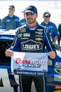 JJ claims pole at Martinsville with record lap