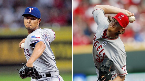 Yu Darvish and Jered Weaver