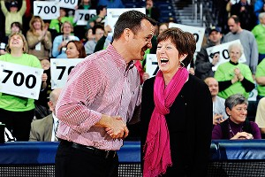Jeff Walz and Muffet McGraw