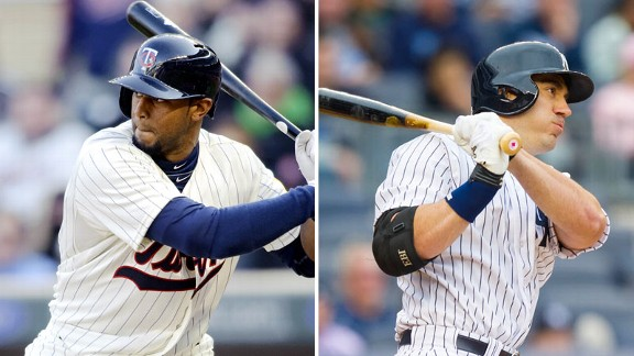 Aaron Hicks, Travis Hafner