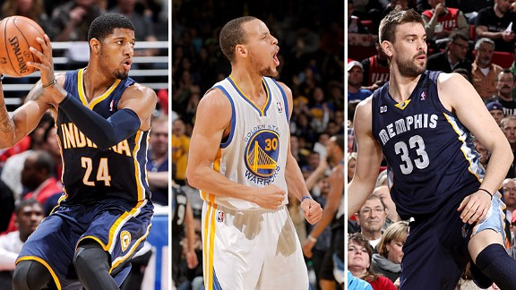 Paul George, Stephen Curry, Marc Gasol