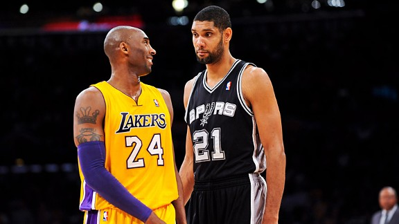 Kobe Bryant and Tim Duncan