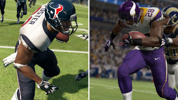 Fantasy football giants Arian Foster and Adrian Peterson will face off in the New-school bracket final.