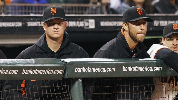 Matt Cain and Madison Bumgarner