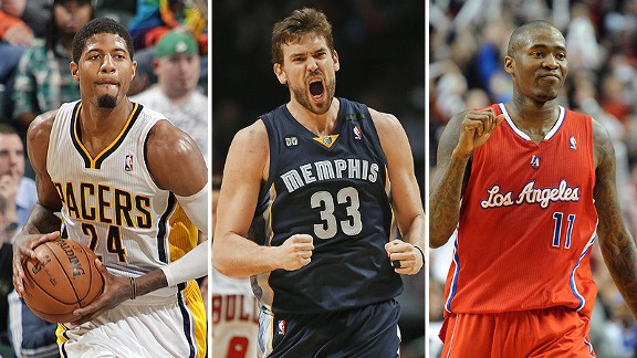 Paul George, Marc Gasol and  Jamal Crawford