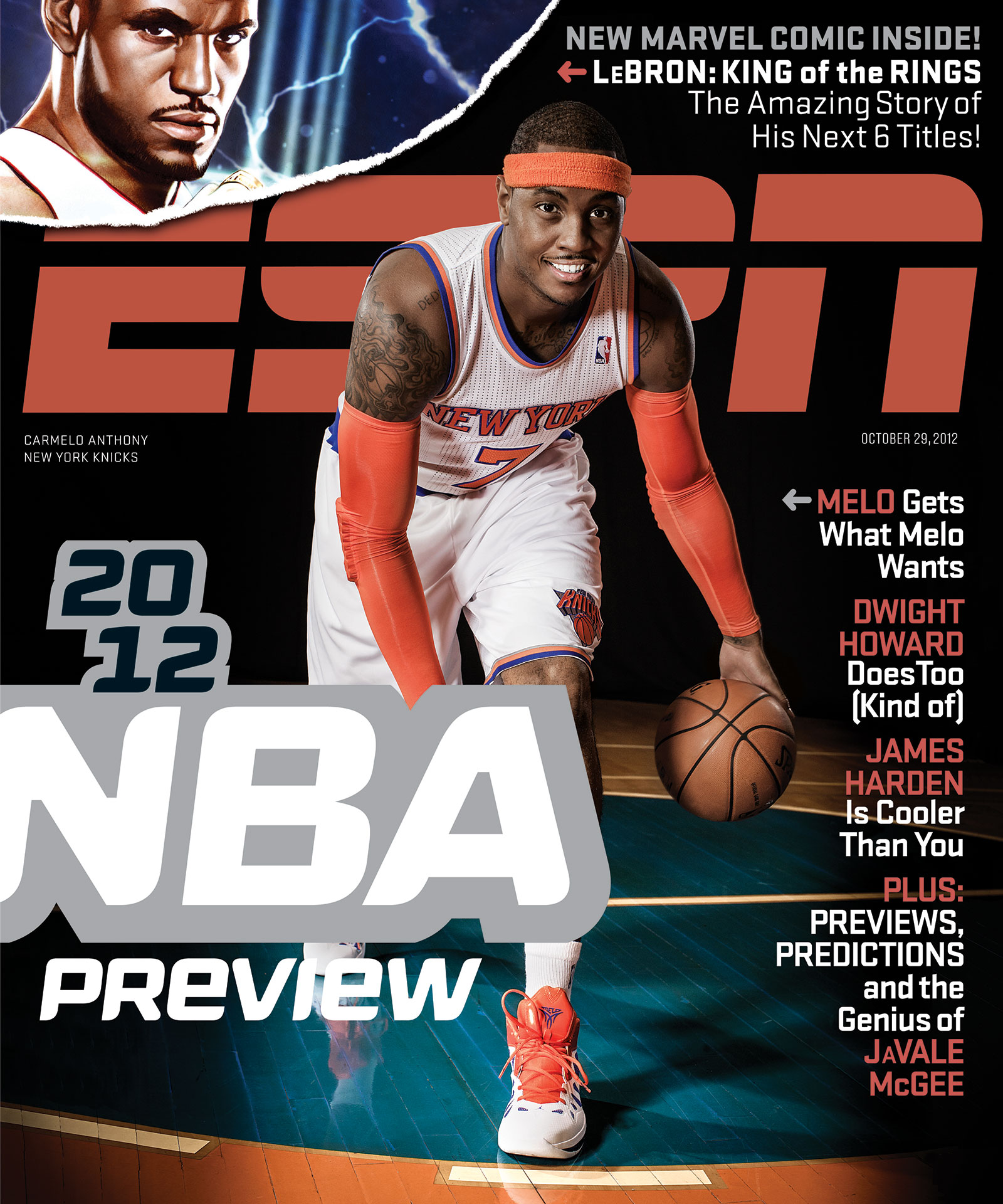 ESPN The Magazine 2012 Covers