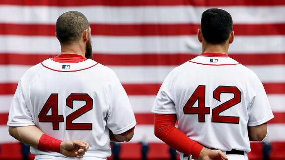 Jonny Gomes (L) and Jacoby Ellsbury