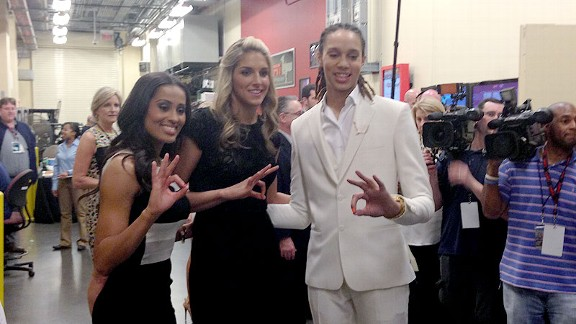Skylar Diggins, Brittney Griner and Elena Delle Donne