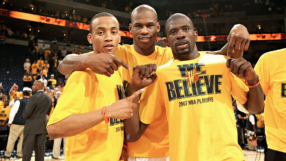 Monta Ellis, Al Harrington and Jason Richardson