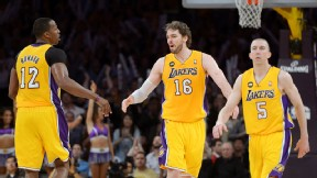 Dwight Howard, Pau Gasol, Steve Blake