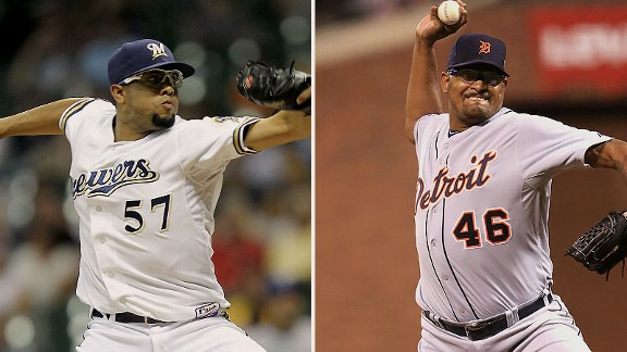 Francisco Rodriguez and Jose Valverde