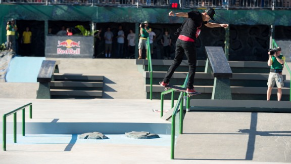 Teenage star Nyjah Huston added a gold medal in Street League to a growing X Games medal haul.