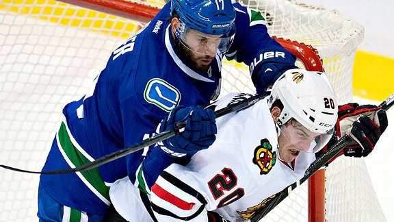 Canucks over Blackhawks