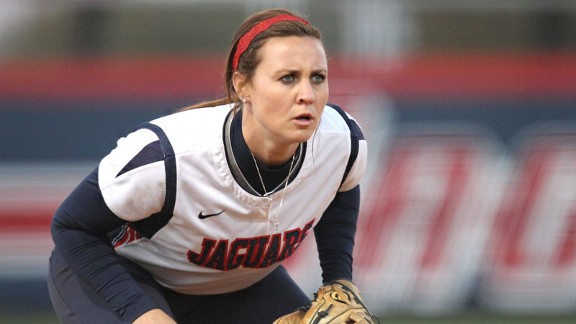 South Alabama freshman Haley Fagan is hitting .366 with nine home runs and a team-leading 44 RBIs for the Jaguars, who make their power rankings debut this week.