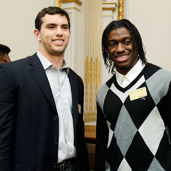 Andrew Luck and Robert Griffin III