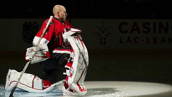 Craig Anderson Of The Ottawa Senators Of The NHL