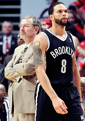 P.J. Carlesimo and Deron Williams