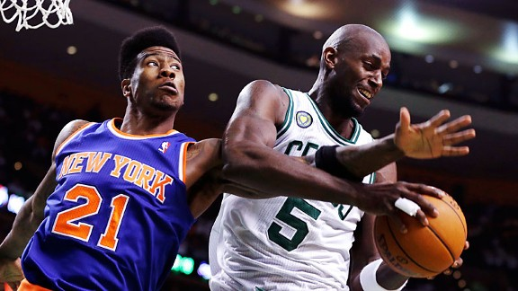 Iman Shumpert and Kevin Garnett