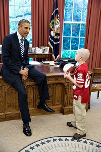 Jack Hoffman and President Obama